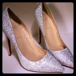 Swarovski crystaled heels